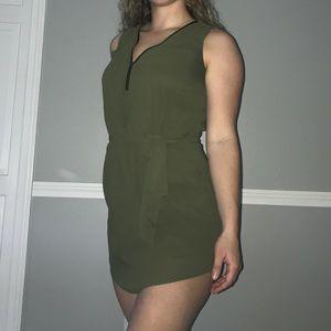Green chiffon dress